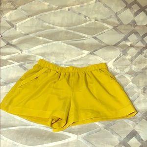 Bcbg dress shorts mustard color size small